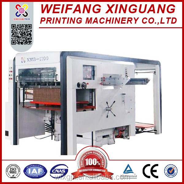 XMB-1100 Pizza box Semi automatic die cutting and creasing machine