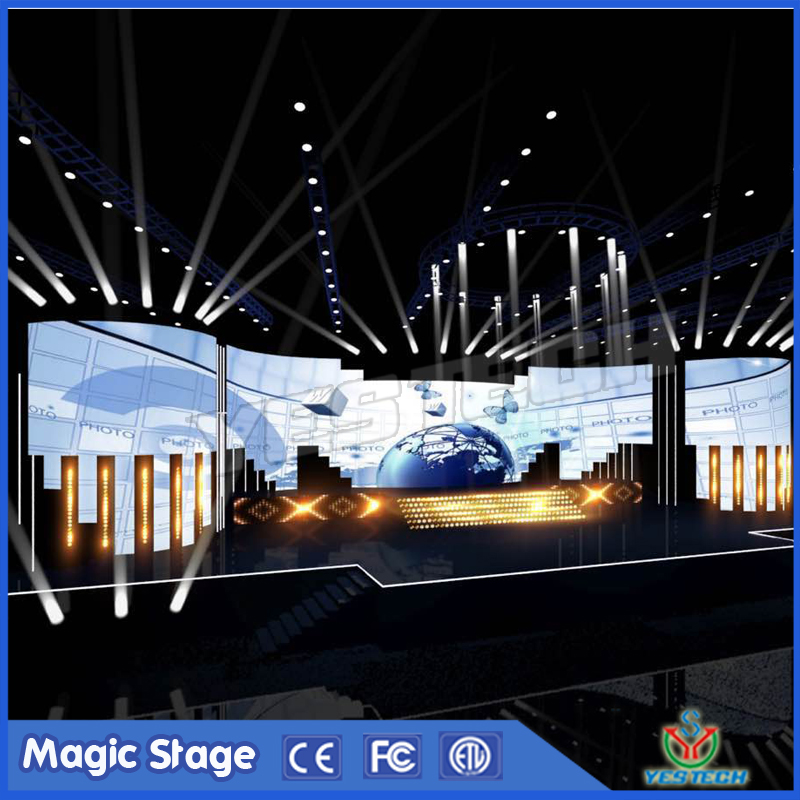 special structure design indoor concert led video wall panel p3