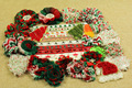 Christmas shabby flowers with elastic