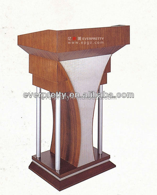Hot Sale Wooden Furniture Custom Perspex Church Podium/Pulpit, Wooden Podium Size Designs