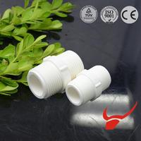 2016 for water supply white pvc male thread coupling