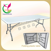 High quality desktop and Deskstands can foldable white retangle plastic folding table YC-T37