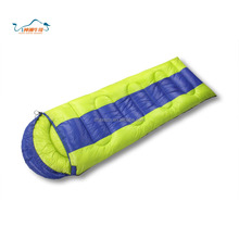 2017 New High Splicing 210T polyester waterproof Portable Camping Envelope Sleeping Bag Winter Warmth Sleeping Bag
