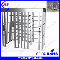 manual full height turnstile door mechanism for strict access control in prison r airport r office access control