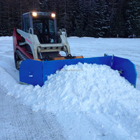 backhoe loader snowplow snow pusher