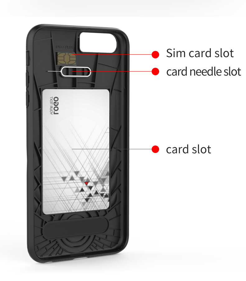 Shell Pattern Shockproof kickstand for iphone 6 shockproof tpu case