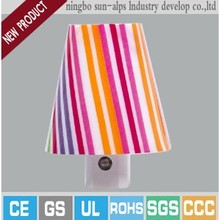 Factory outlet bedroom CDS night light with lamp decorative night lights with sensor shade sanyo light