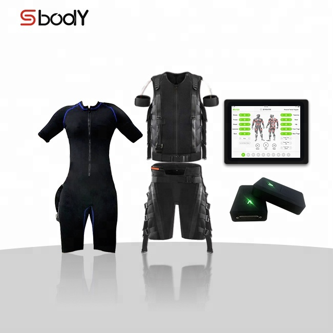 Manufacturer Wireless electro fitness training suit dry electrode machine