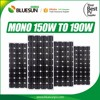 Bluesun monocrystalline 18v 160w solar system generator panels for solar power system home