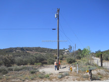 tough wooden electrical poles 12m wooden utility pole for telephone/telegraph and power transmission lines