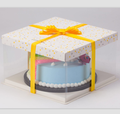 Custom Transparent Cake Box , Clear Plastic Cake Box With Window
