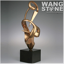 Stainless Steel Famous Gold Art Abstract Sculptures For Decor