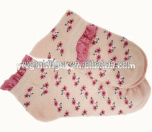 Latest Design Wholesale Promotion printed Princess Jacquard Japan Cherry Top Lace Girls Women Socks