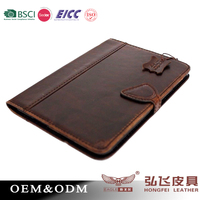vintage retro style luxury genuine leather tablet case for Ipad Air2