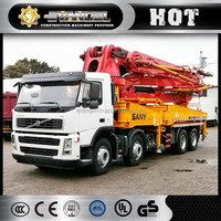 Factory price 56M SANY Truck mounted concrete pump for sale india