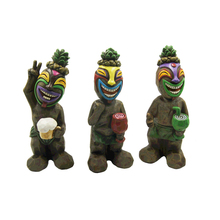 Novelty Carving Fortune Figuirne Resin Tiki Statues