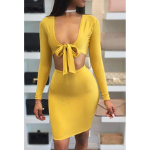 Milk Fiber Sexy V Neck Long Sleeve Sheath Mini Dresses With Sexy Girls Without Dress Images