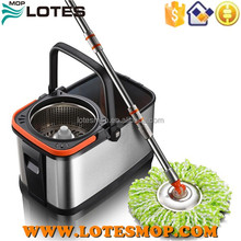 stainless steel bucket mop 360 degree Spin Magic electric floor mop,Hand Press With Wringer Mop Bucket
