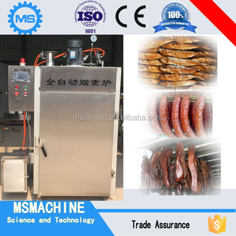 Automatic sausage smoker for sale/ commercial meat smoker