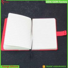 2015 xmas' gifts A6 size Silicone clear Cover notebook for school student