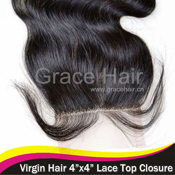 100% unprocessed virgin brazilian hair lace closure, blench knots, baby hair