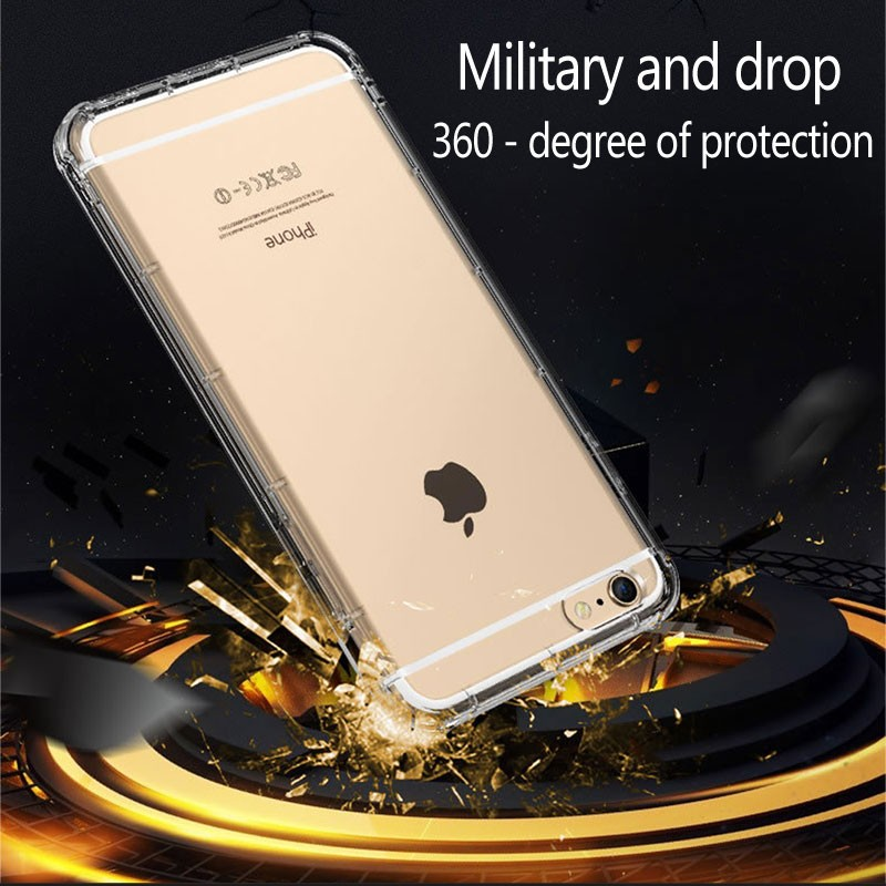 Latest phone accessories shockproof tpu case for iphone6/6s clear transparent soft simple case bumper cover for iphone6 4.7
