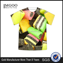 MGOO Hot Selling OEM Quality t shirt wholesale china Fashion printed candy t-shirt kid colorful custom tee <strong>design</strong>