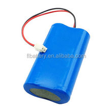 7.4V 2200mAh 2600mAh 18650 Li-ion battery pack with PCB for medical device