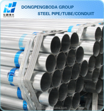 galvanised water steel pipe dimentions