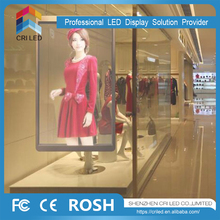 Media facade led video wall transparent glass led display screen