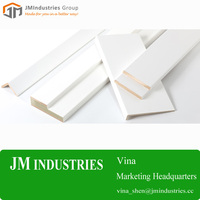 White Coated Cheap Mdf S4S Baseboard