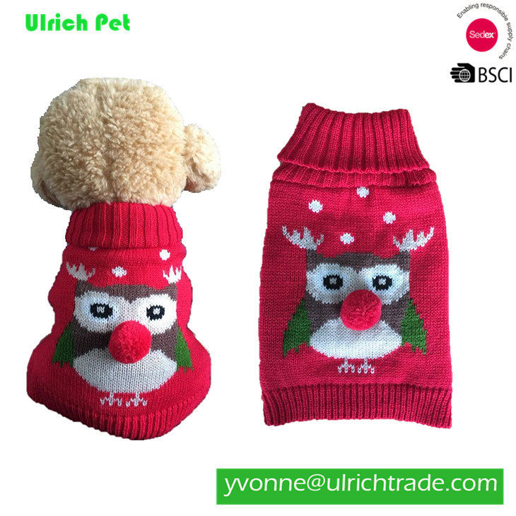7326 Ulrich hot sale customized acrylic dog knit sweater