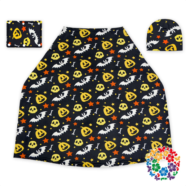 Halloween Day Cartoon Baby Carrier Car Seat Cover Set Canopy Cheap Baby Car Seat Covers