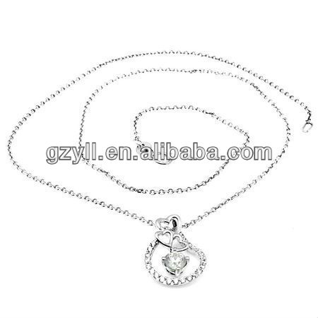 wholesale wedding jewery necklace 925 italian silver necklace