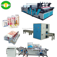 Tissue roll making machine rolling tissue toilet paper producing line equipment