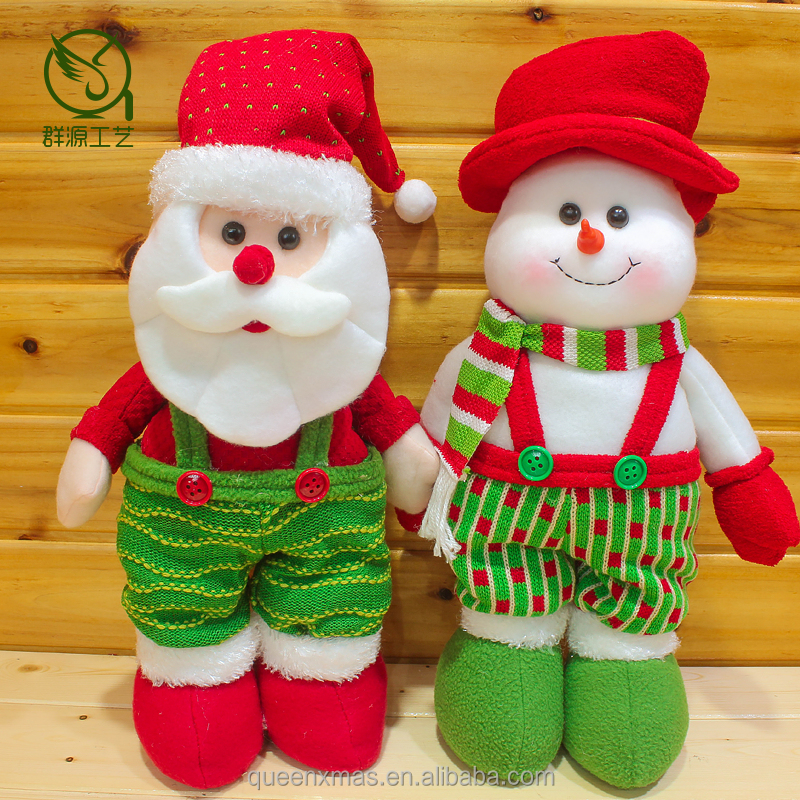 Foam Head retail Christmas Santa Claus Snowman Dolls
