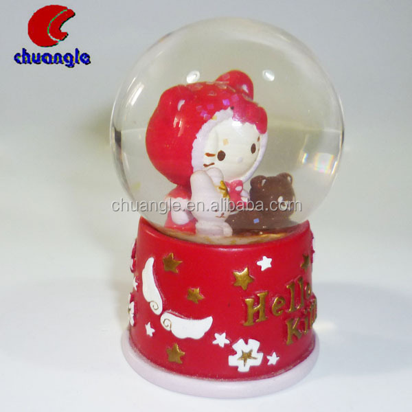 Custom Kitty Cat Resin Snow Globes&Water Globe