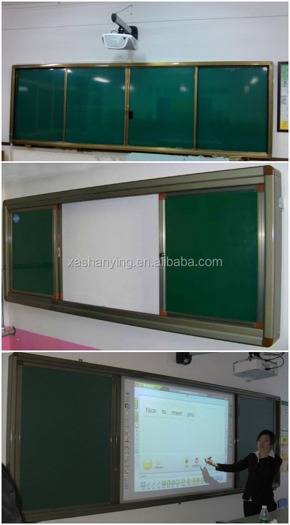 Electronic school multimedia classroom magnetic chalkboard