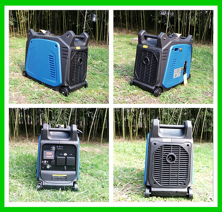3.5kw portable puresine wave silent electric and remote start digital gasoline inverter brushless generators for home & camping