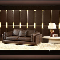 simple leather living room furniture, American living style furniture HD-153