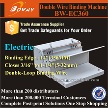"14""(356MM) binding edge twin ring loop coil wire binding machine"