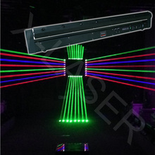 disco moving head 8 lens fat beam laser show light