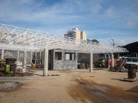 Swimming pool Brasil steel space frame system building