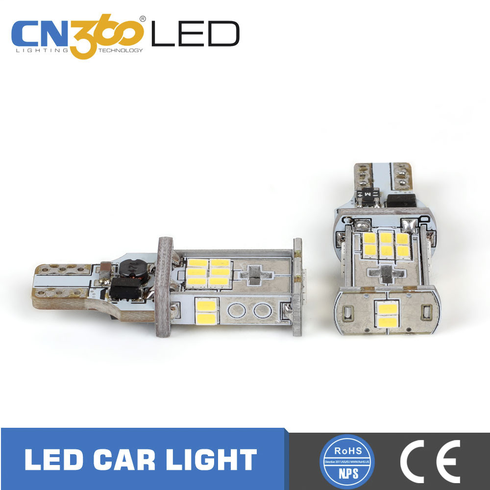 Wholesale car t15 wedge bulb 18 smd 6000k 950lm canbus auto 921 led bulbs for car