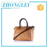 Good Prices Custom Shape Printed Lady Cow Hide Leather Handbags