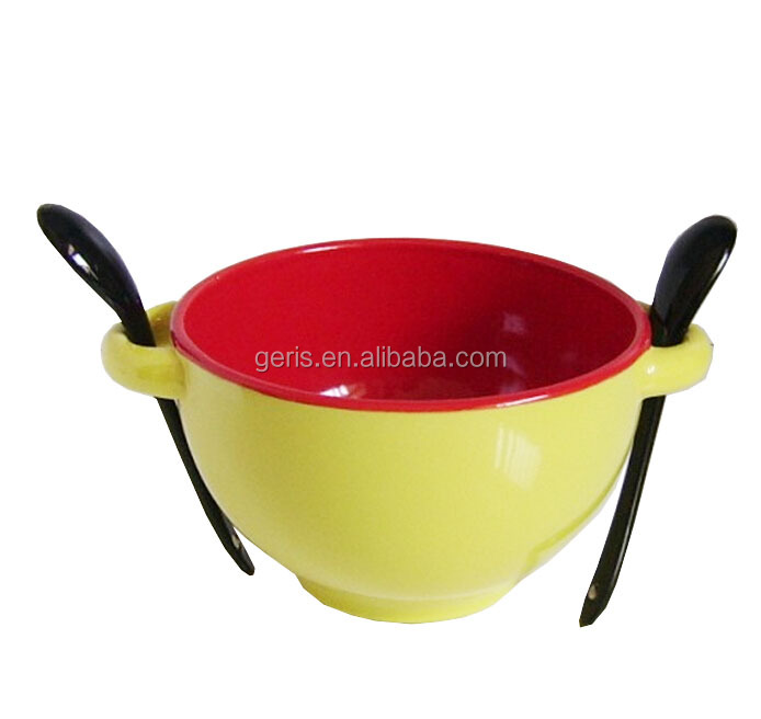 GRS ceramic soup bowl with spoon