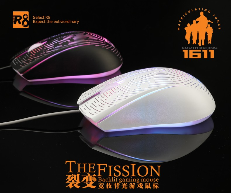 R8 factory for computer parts,elegant optical mouse,high-tech mouse