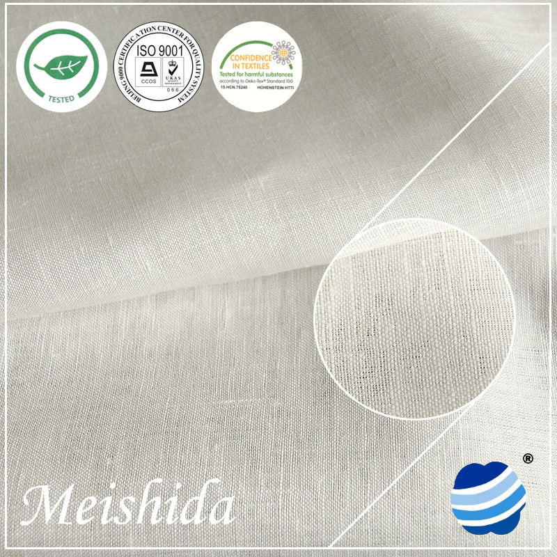 MEISHIDA organic linen hemp fabric fabric wholesale 17 * 17 / 52 * 53
