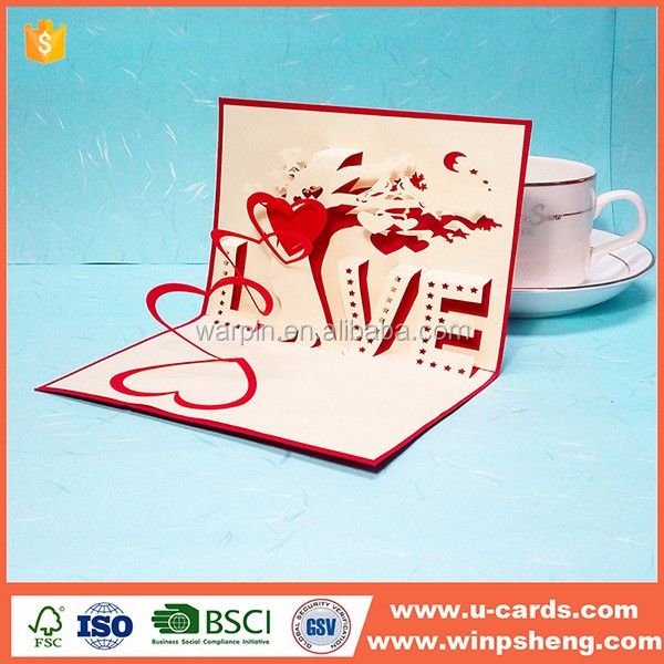 China Supplier Custom Greeting Card New Product 2016 Laser Cut birthday card