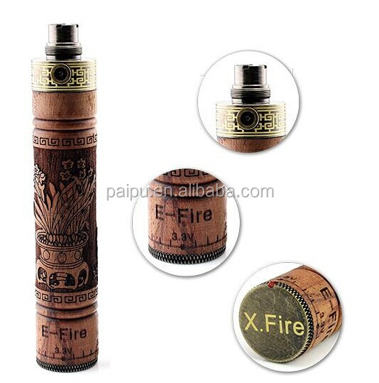 2014 PAIPU hot 3.3v-4.8 V wood battery kit e cigarette x-fire vaporizer pen e cig e fire